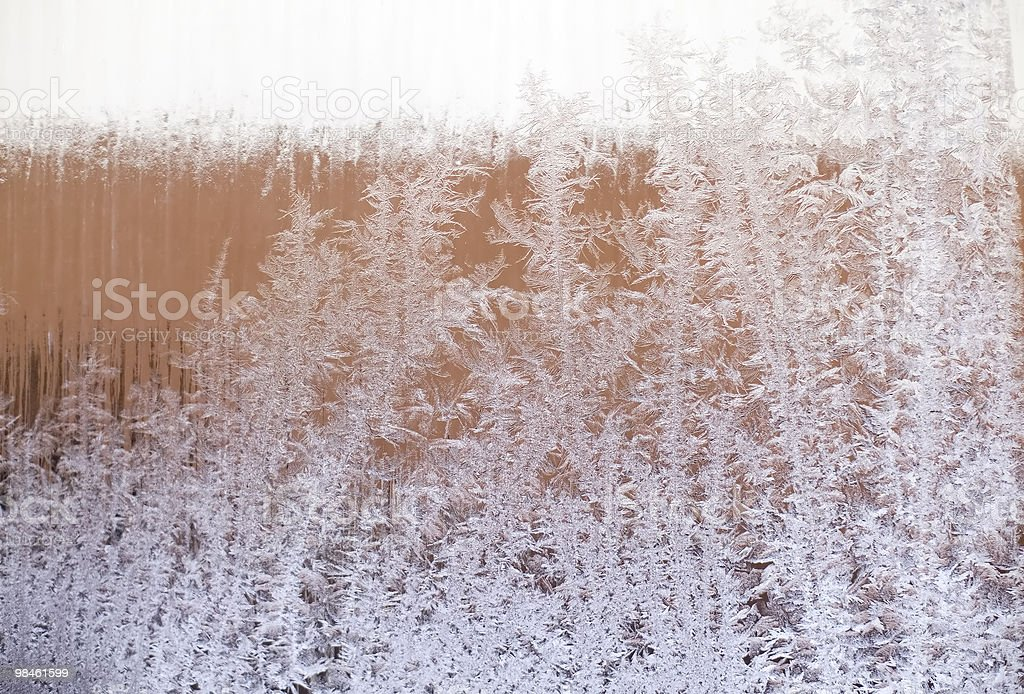 Frosted window royalty-free stock photo