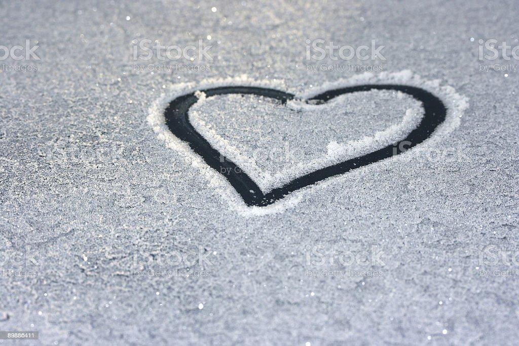 Frosty Heart royalty-free stock photo