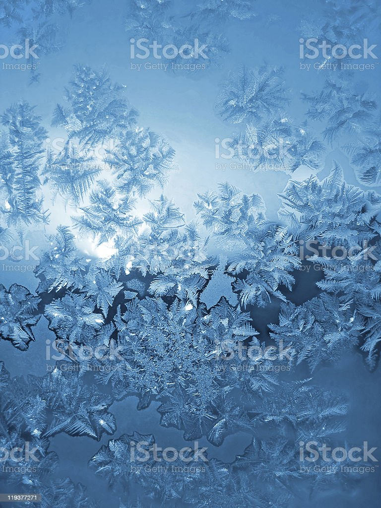 frosty natural pattern royalty-free stock photo