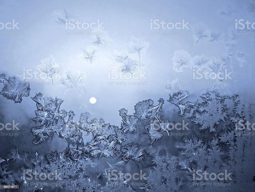 Frosty natural pattern stock photo