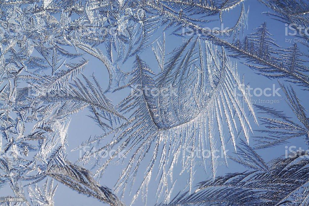 frosty pattern on glass royalty-free stock photo