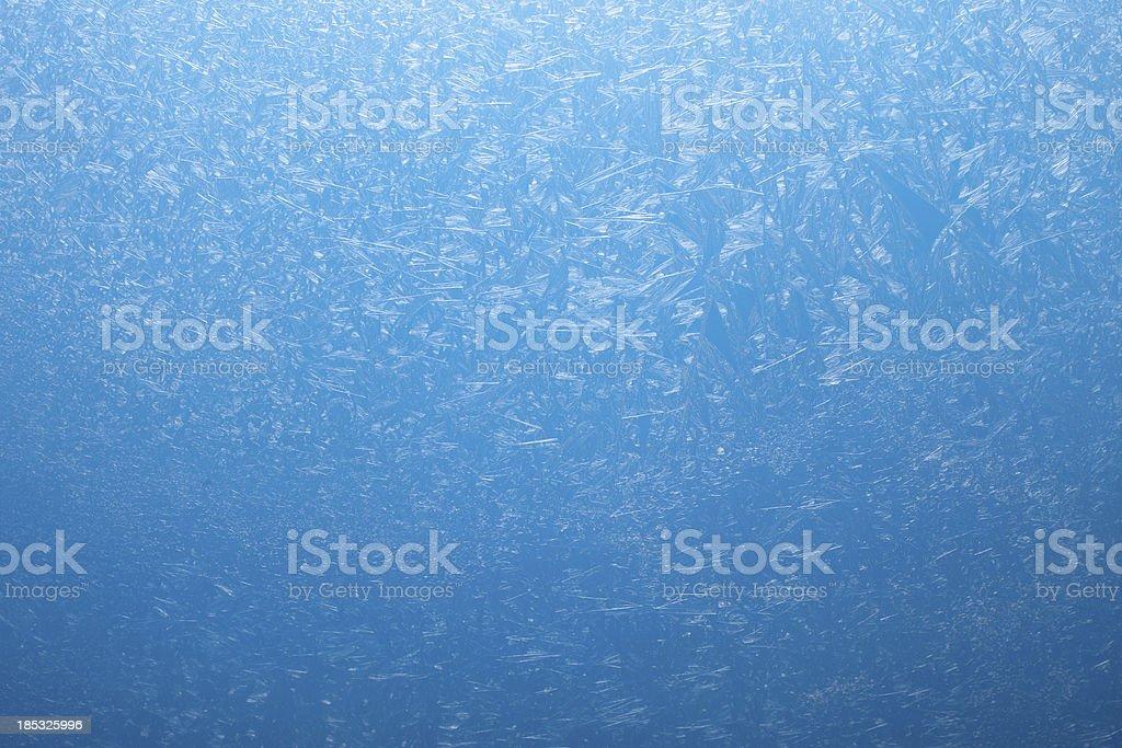 Frosty pattern on the glass. stock photo