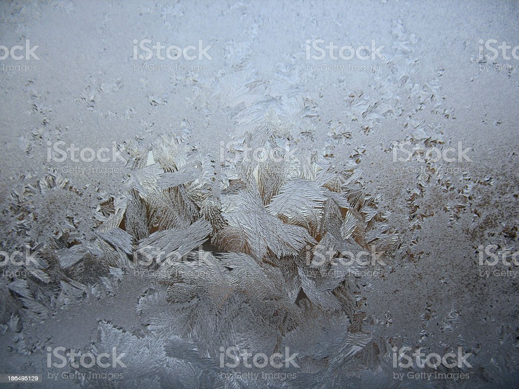 frosty pattern on winter window royalty-free stock photo