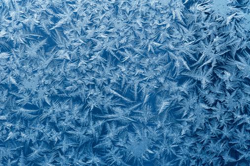 Beautiful frost pattern on a window.