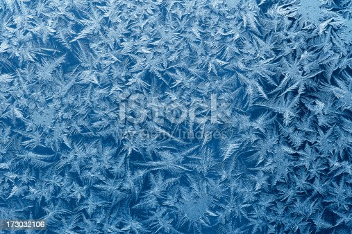Beautiful frost pattern on a window.