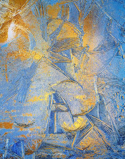 frosty muster - glasmalerei stock-fotos und bilder