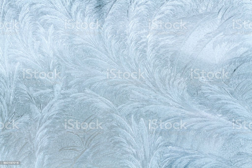 Frosty patterns on the window. stock photo