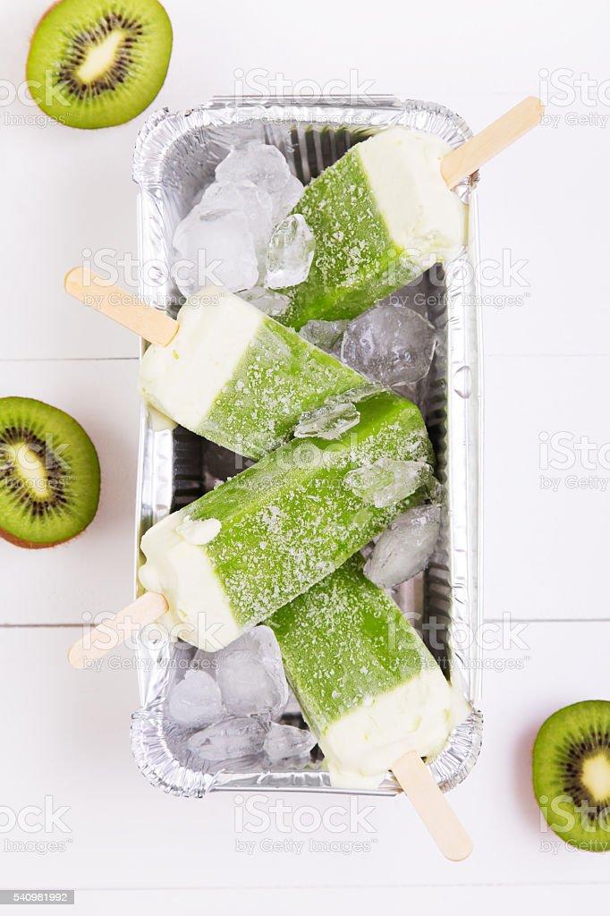 Frosty popsicles stock photo