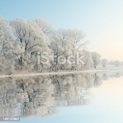 1034754000 istock photo Frosty winter trees at dawn 149132862