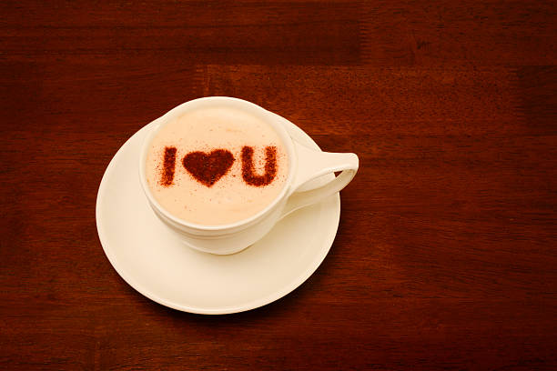 froth art with i love you - i love you stock photos and pictures