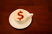 Froth Art with money symbol