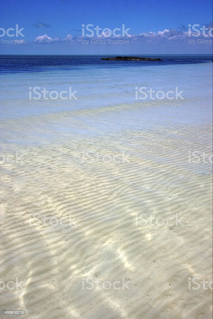 froth cloudy  relax and coastline in the caraibbien blue stock photo