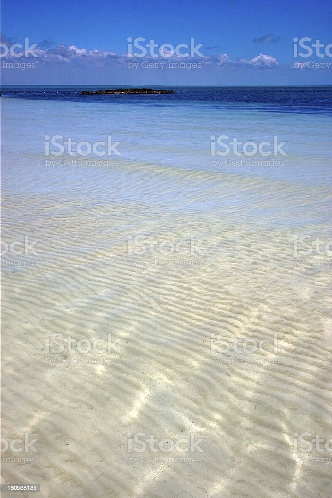 froth cloudy  relax and coastline in the caraibbien stock photo