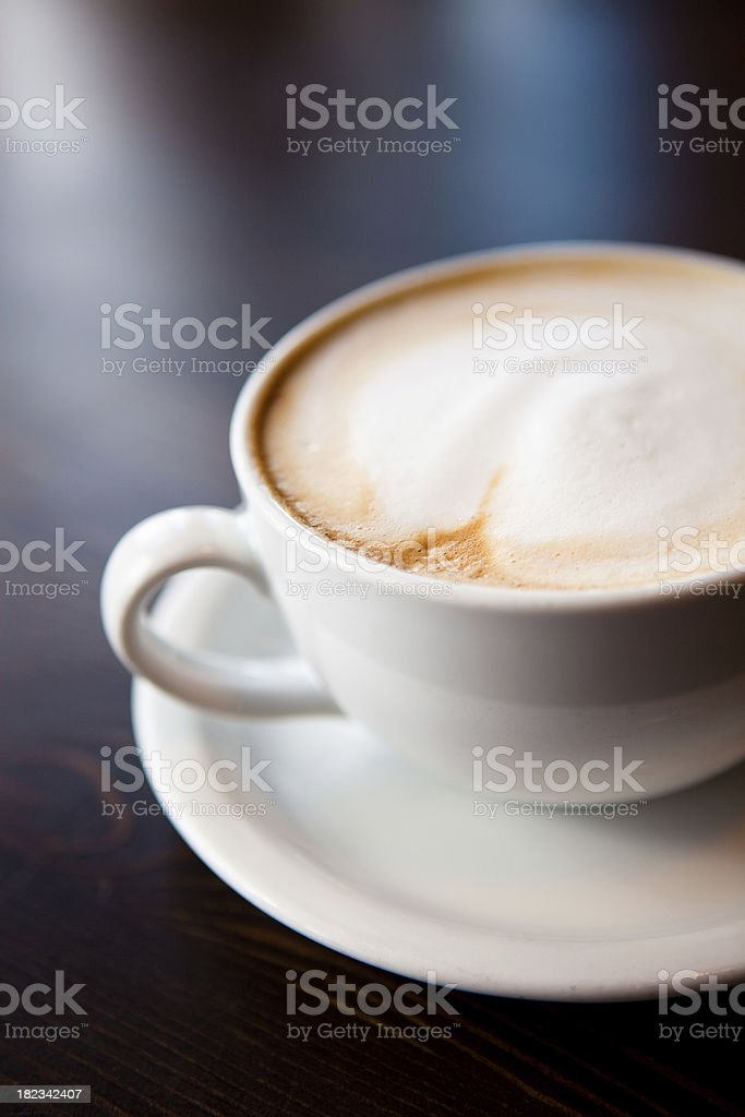 Frothy Cappuccino royalty-free stock photo