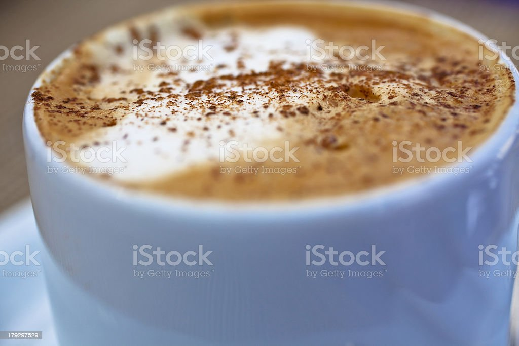 Frothy Hot Drink royalty-free stock photo