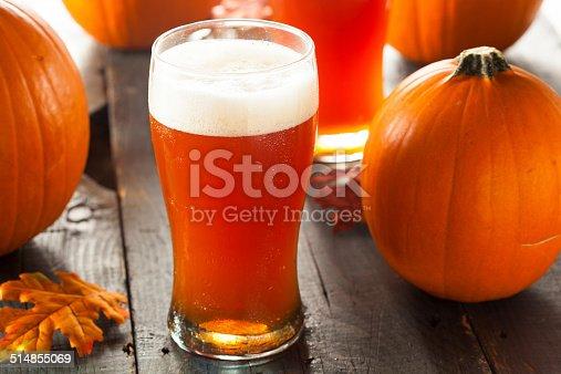 istock Frothy Orange Pumpkin Ale 514855069