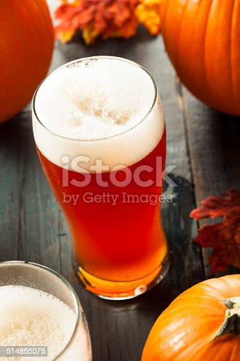 istock Frothy Orange Pumpkin Ale 514855075