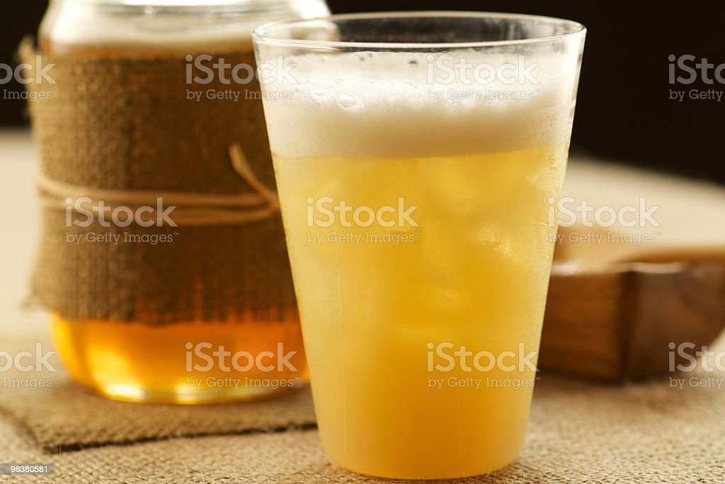 Frothy Rum Cocktail Made with Honey royalty-free stock photo