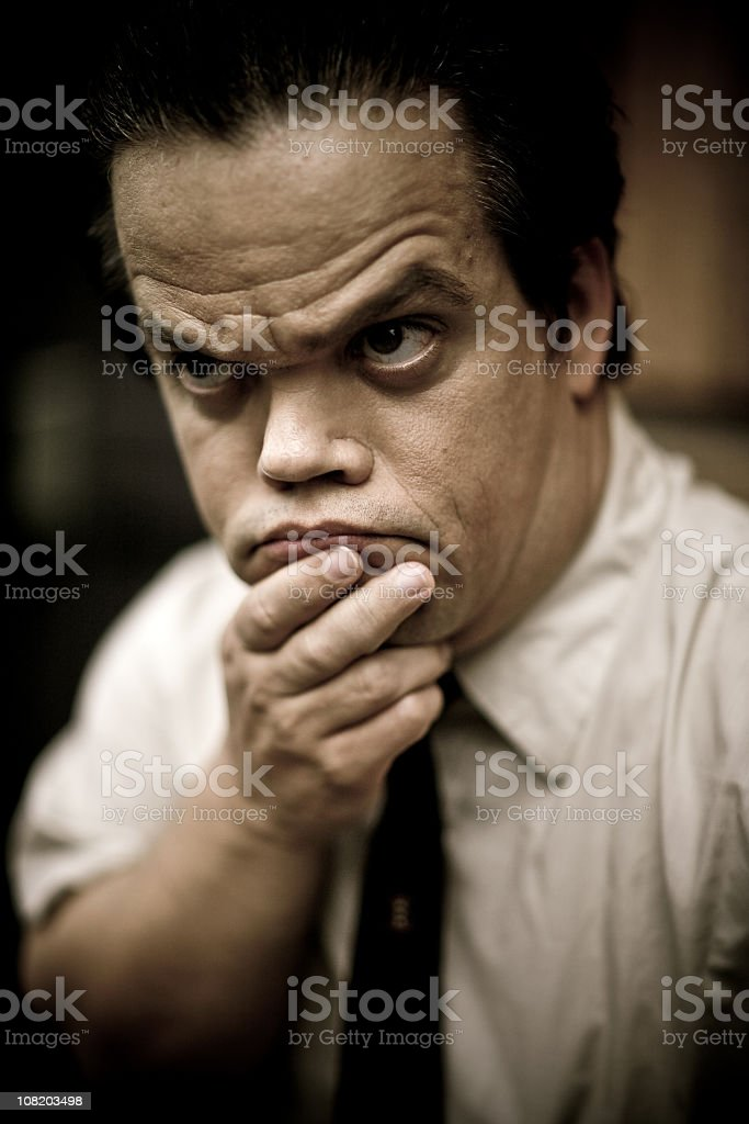 frowning stock photo