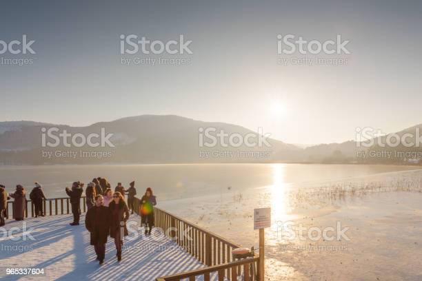 Zamarznięte Jezioro Abant W Parku Narodowym Golcuk W Bolu W Turcji - zdjęcia stockowe i więcej obrazów Badanie