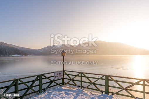 Frozen Abant Lake In Golcuk National Park In Boluturkey Stock Photo & More Pictures of Angle