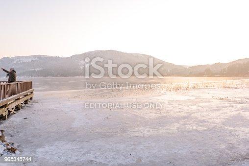 Frozen Abant Lake In Golcuk National Park In Boluturkey - Stockowe zdjęcia i więcej obrazów Badanie
