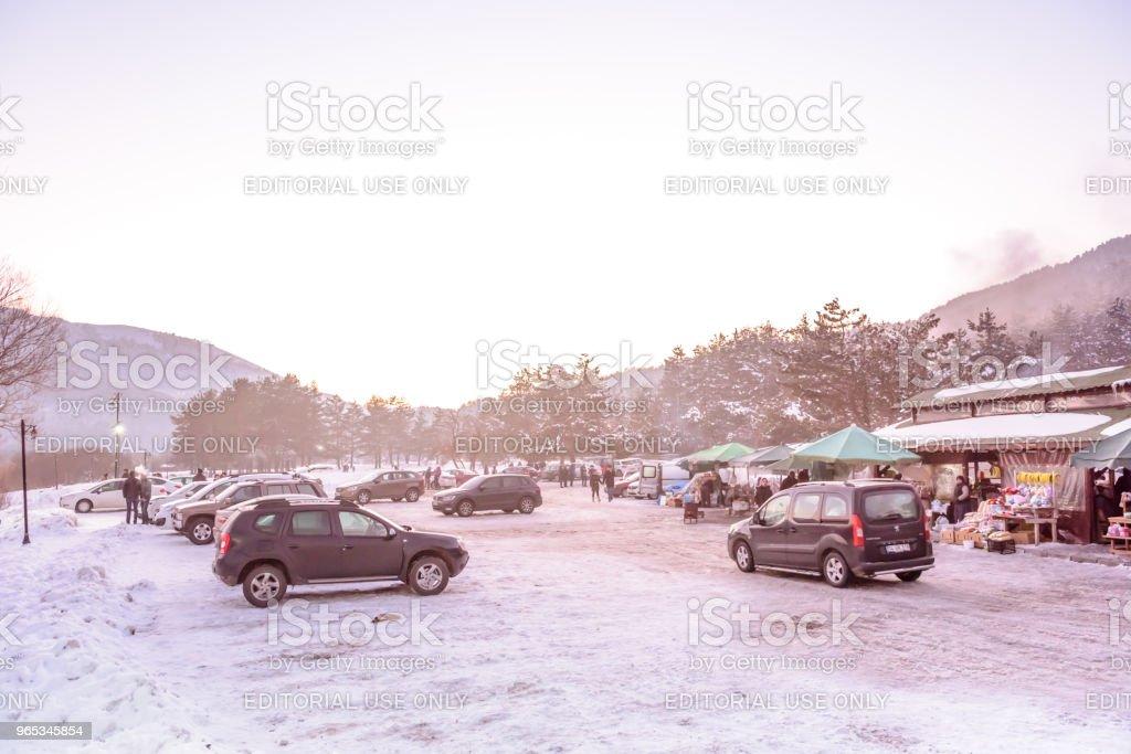 냉동된 Abant 호수 볼 루, 터키에서 Golcuk 국립 공원에서 - 로열티 프리 1월 스톡 사진