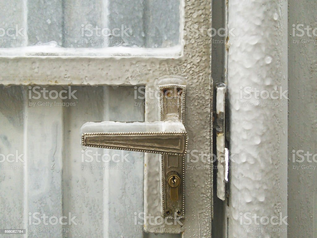 Frozen and ice covered royalty-free stock photo