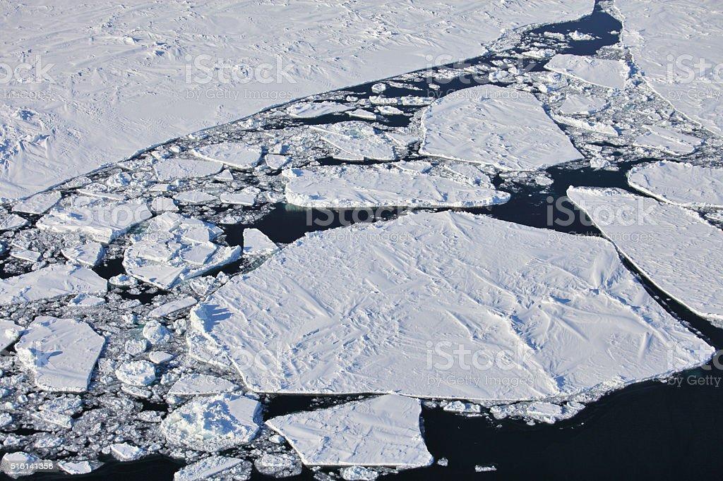 Frozen Arctic Ocean stock photo