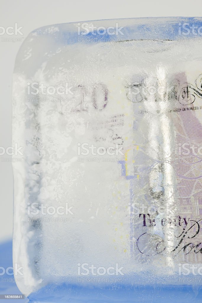 Frozen Assets stock photo