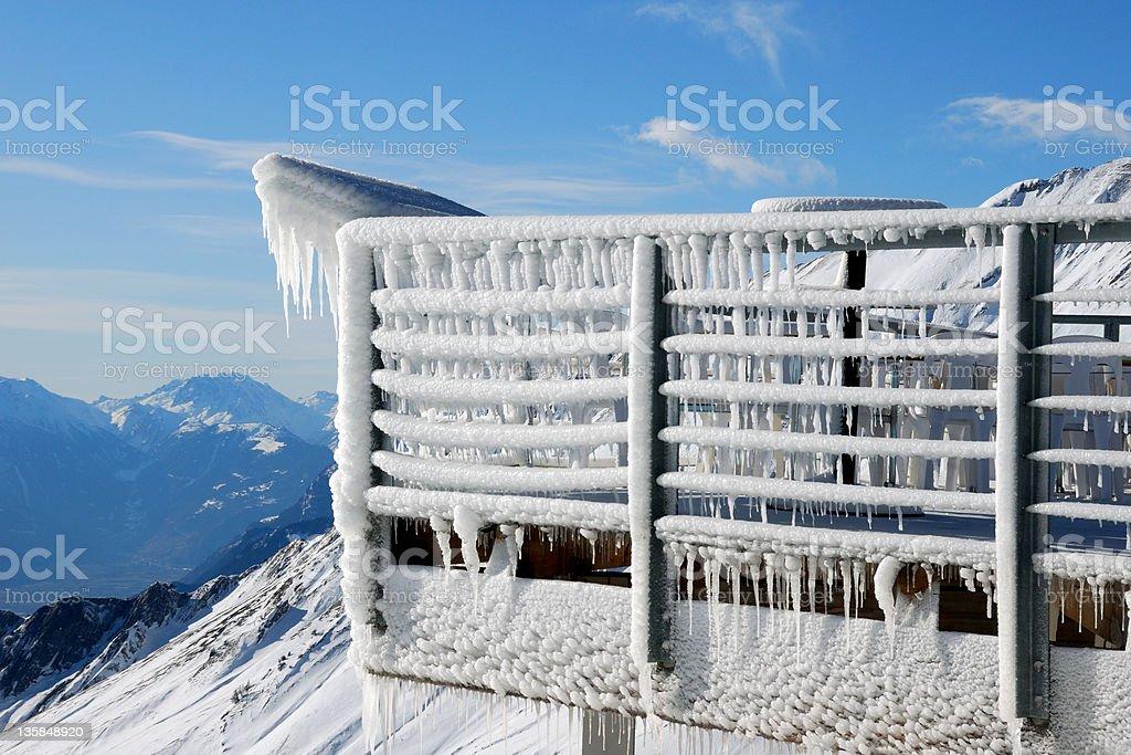 Frozen balcony stock photo