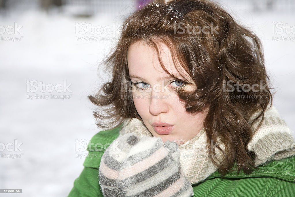 frozen beauty royalty-free stock photo