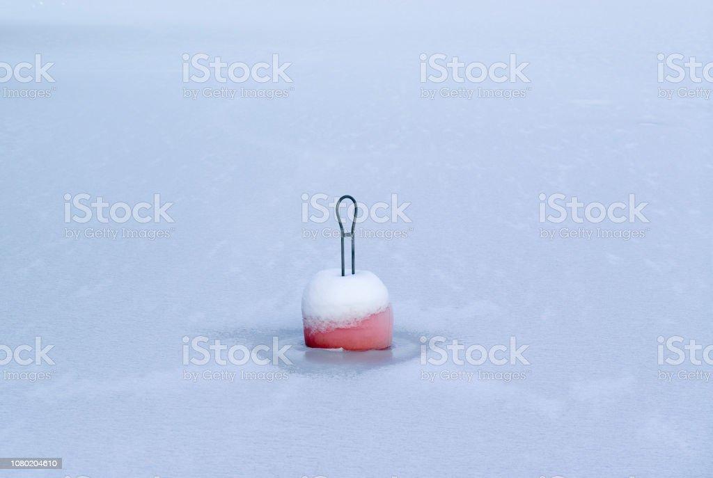frozen bouy stock photo