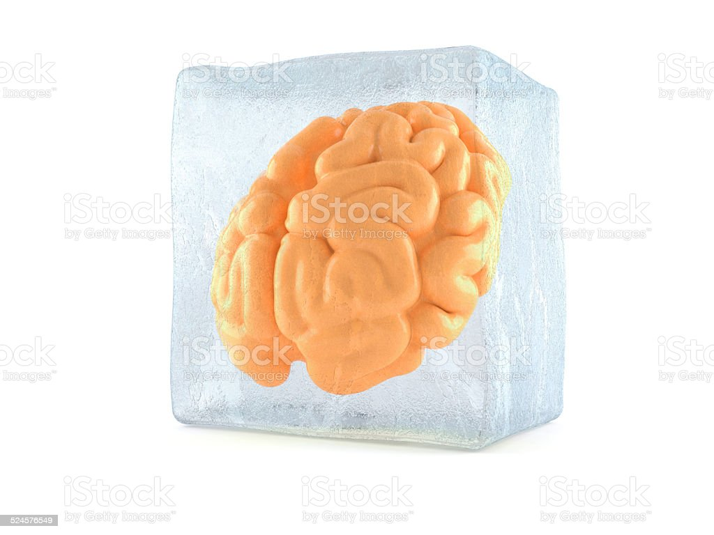 Frozen brain stock photo