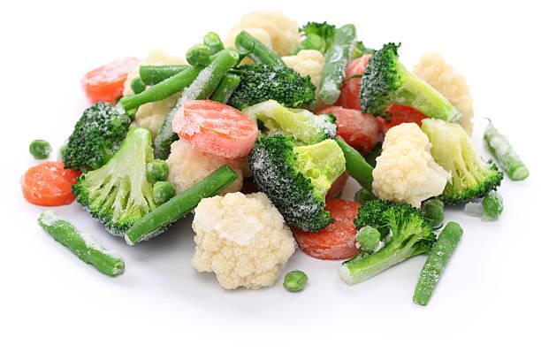caseira legumes congelados - comida congelada - fotografias e filmes do acervo