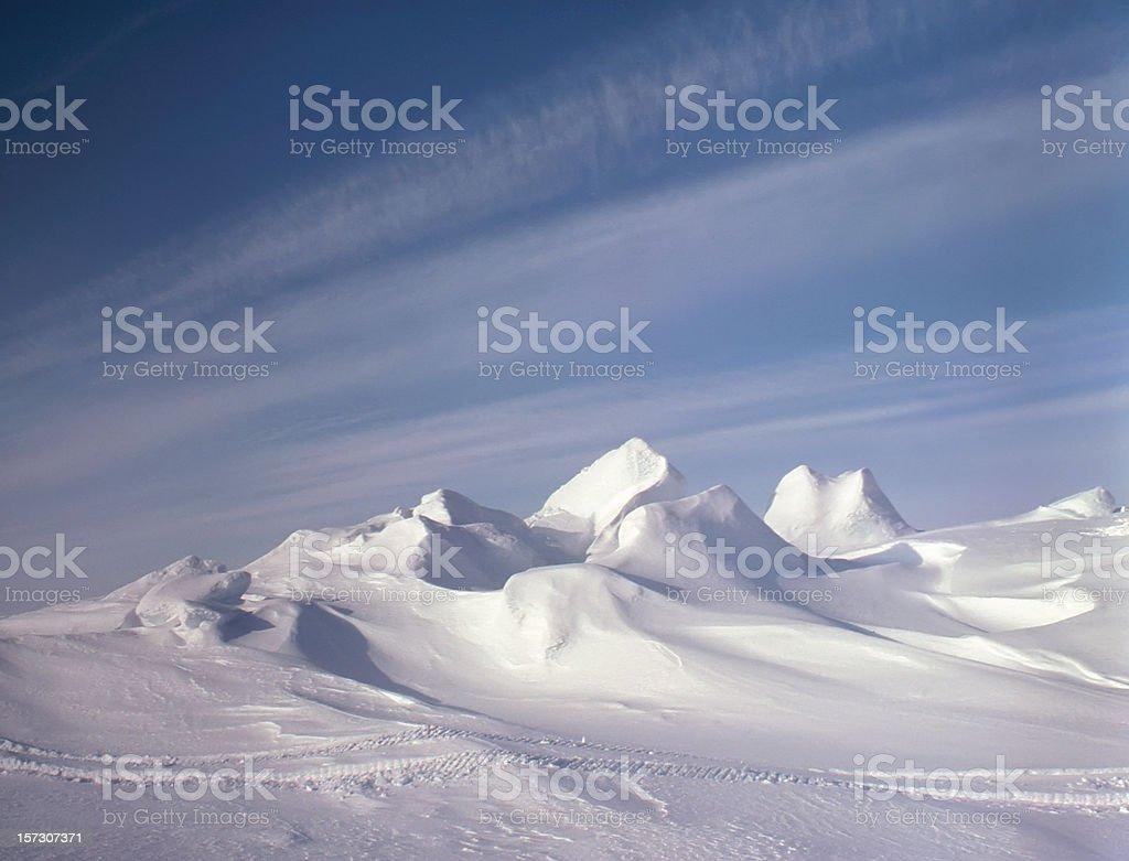 Frozen Canadian Arctic Ocean royalty-free stock photo