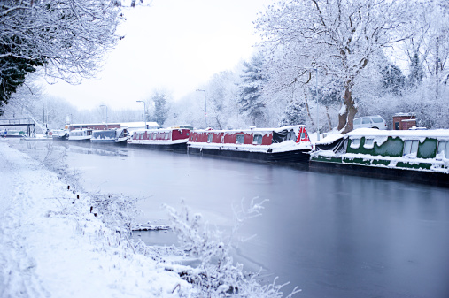 Frozen Canal in Wolverhampton