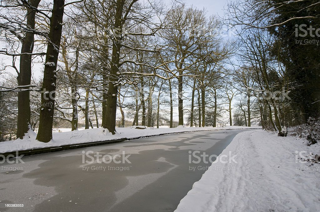 Frozen Canal royalty-free stock photo