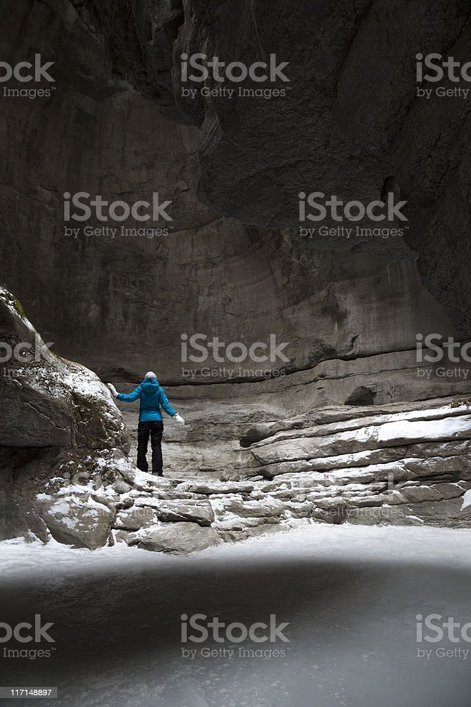 Frozen Canyon royalty-free stock photo