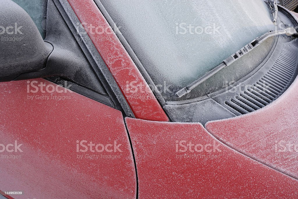 Frozen Car 02 royalty-free stock photo