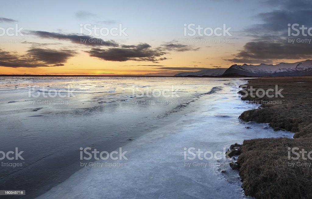 Frozen coast in Iceland royalty-free stock photo