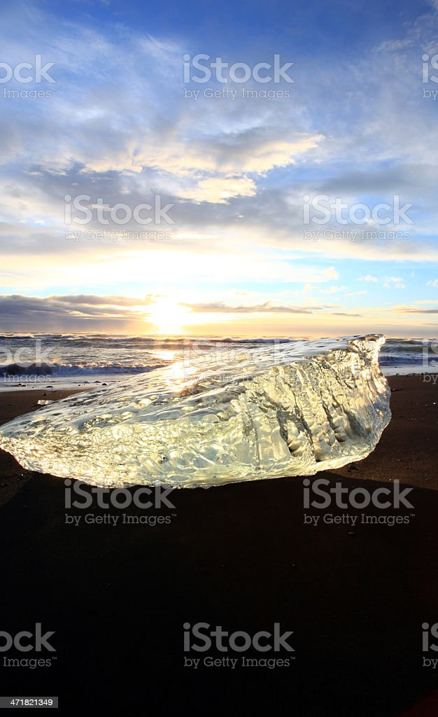 Frozen coast in Iceland royalty-free stock photo