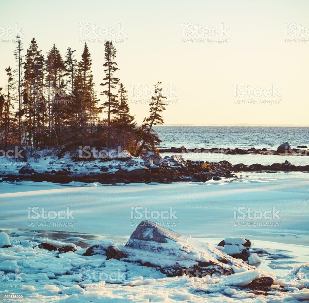 Frozen Coastline - Royalty-free América do Norte Foto de stock