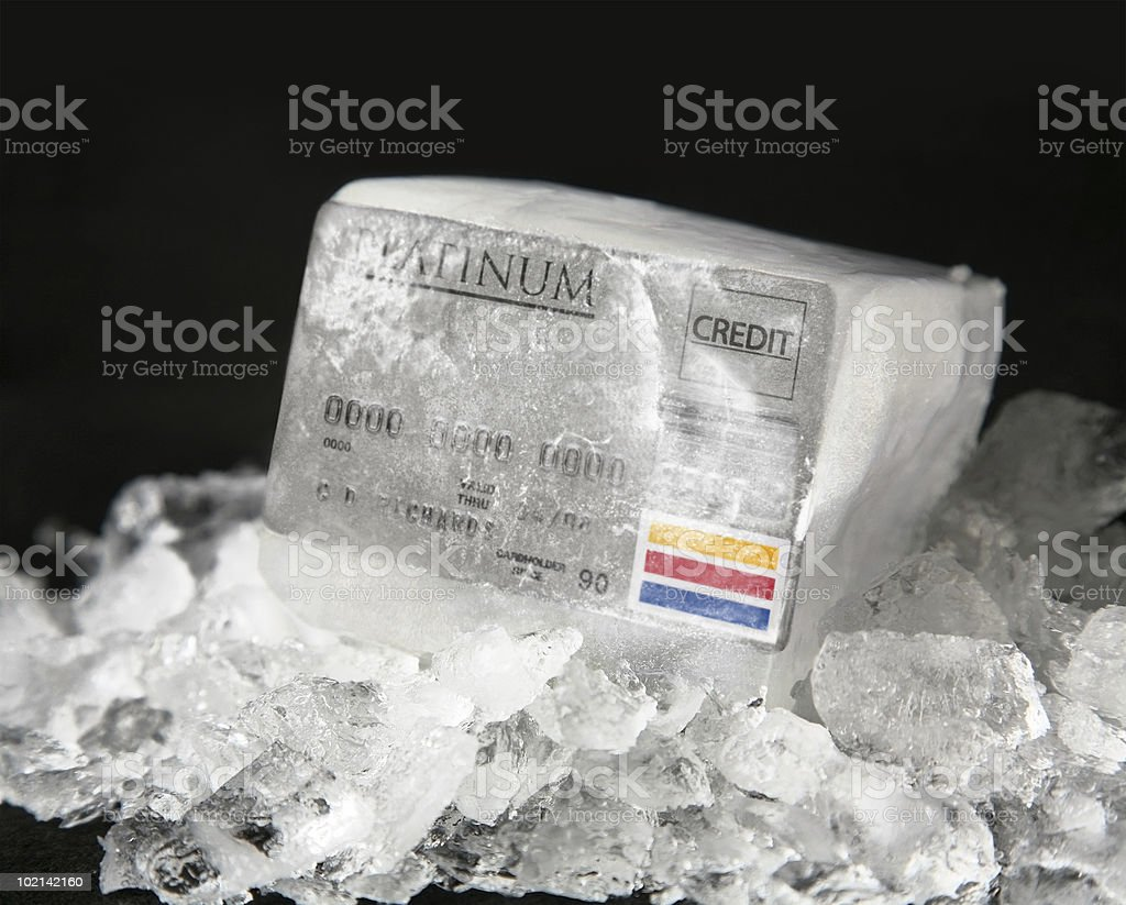 Frozen Credit stock photo