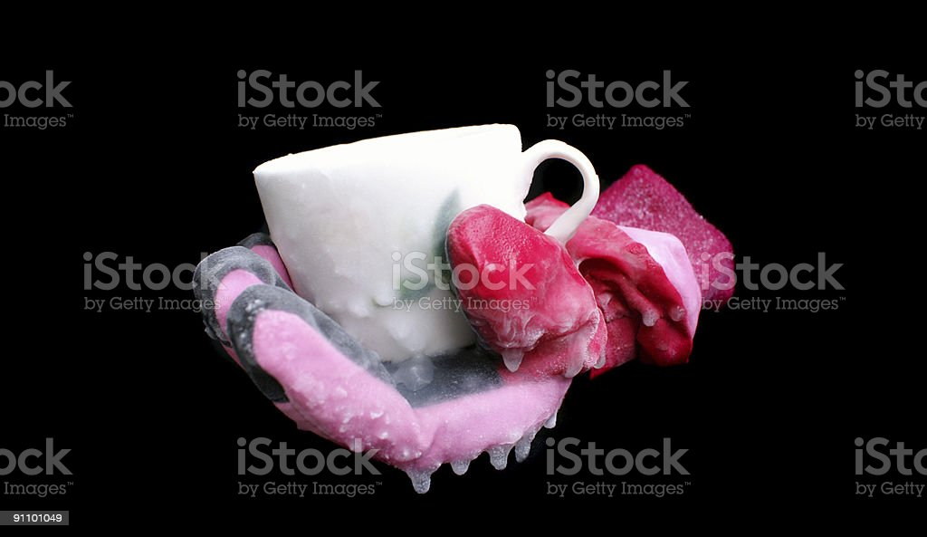 Frozen cup royalty-free stock photo