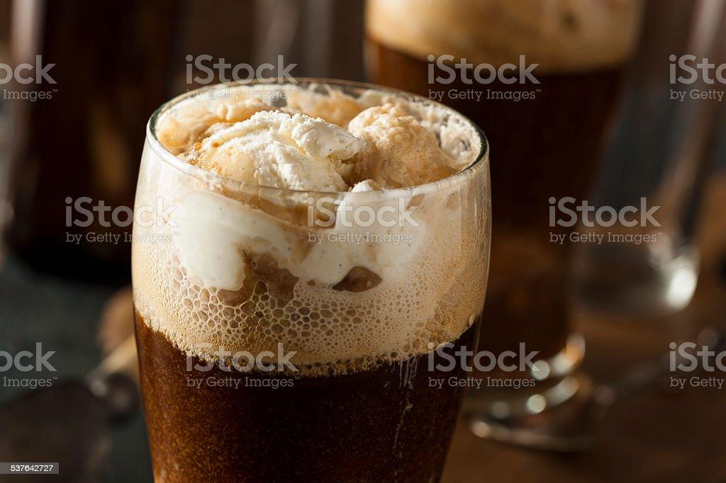 Frozen Dark Stout Beer Float stock photo