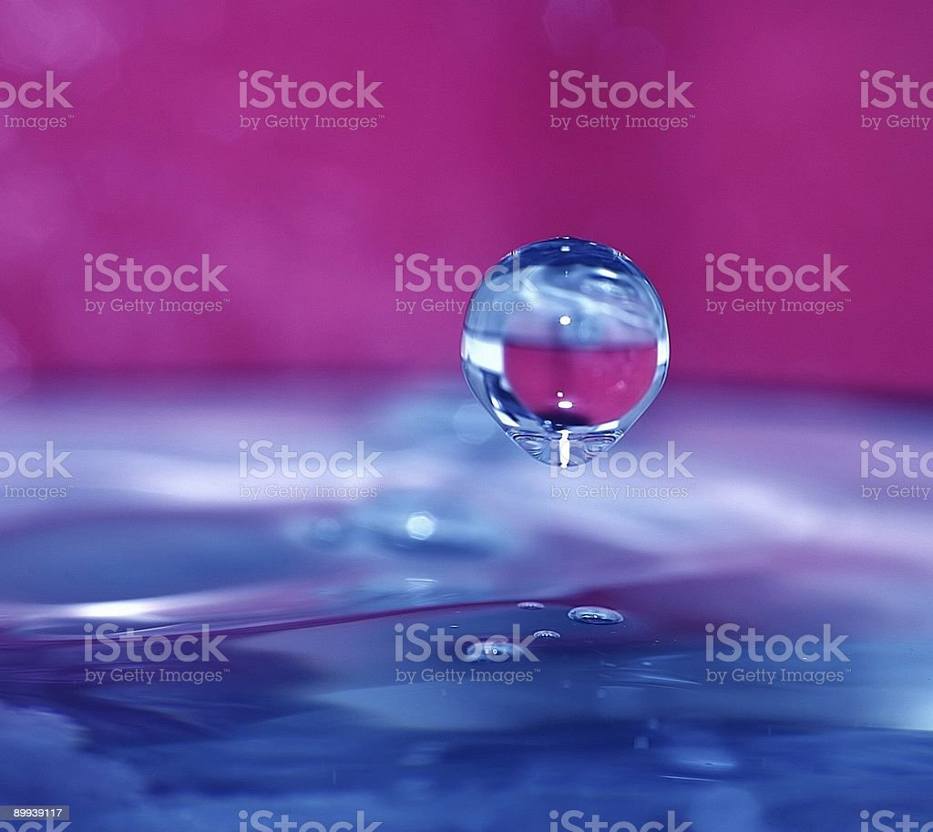 Frozen Drop royalty-free stock photo