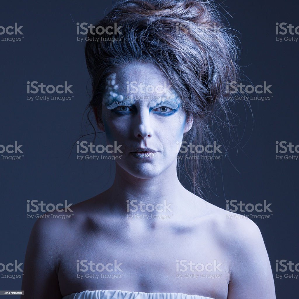 frozen fantasy stock photo