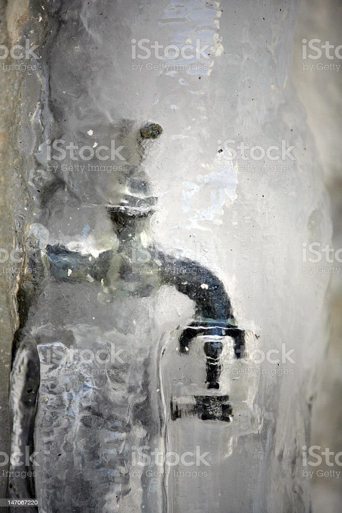 Frozen faucet royalty-free stock photo