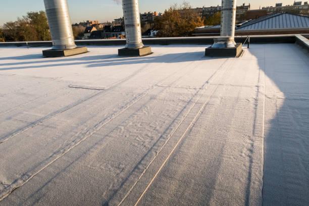 gefrorenes Flachdach – Foto